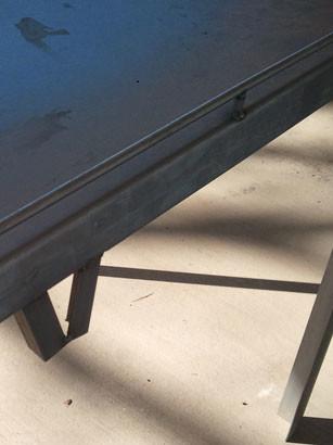 table showing hose holder